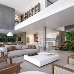 Living room by Martins Lucena Arquitetos