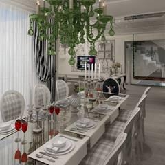 Mimoza Mimarlık – EVRIM & GUNAY ASLAN EVI:  tarz Yemek Odası
