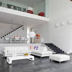 vista 3D: Pasillos y vestíbulos de estilo  por INVERSIONES NACSE S.A.S.