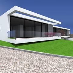 """Vivenda Unifamiliar - """"FV"""": Casas  por Traço M - Arquitectura,Moderno"""