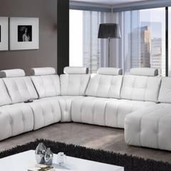 Sofás de canto Corner sofas www.intense-mobiliario.com  POLAND : Sala de estar  por Intense mobiliário e interiores;