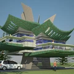 Casa Arbol: Casas de estilo  por Arq. Jose F. Correa Correa