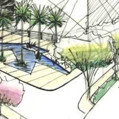 Palacios de congresos de estilo  por ECOSSISTEMAS; Áreas Verdes e Sistemas de Rega.