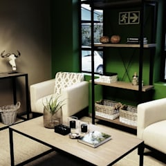 Eco Elementum Office Reception Area:  Commercial Spaces by GSI Interior Design & Manufacture, Minimalist