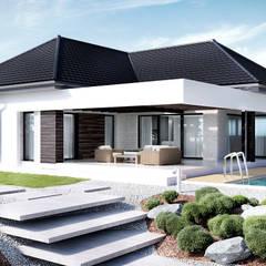 Projekt domu HomeKONCEPT-32: styl , w kategorii Domy zaprojektowany przez HomeKONCEPT | Projekty Domów Nowoczesnych