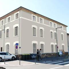 Cour intérieure - Caluire (69): Fenêtres de style  par atelier AMEG
