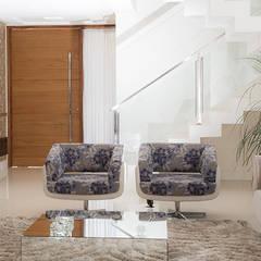 SOBRADO FUNCIONAL: Salas de estar  por Camila Castilho - Arquitetura e Interiores