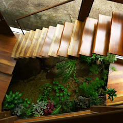 Rustic style corridor, hallway & stairs by Baixo Impacto Arquitetura Ltda. Rustic