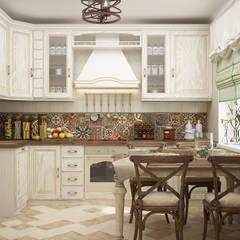 mediterranean Kitchen by Студия дизайна Дарьи Одарюк