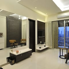 3 Bedroom Mumbai Residence:  Dressing room by Aum Architects