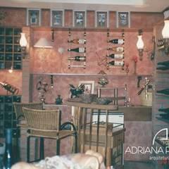 ADEGA: Adegas rústicas por adriana peccin arquitetura