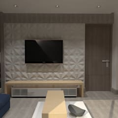 Salas de entretenimiento de estilo  por AurEa 34 -Arquitectura tu Espacio-