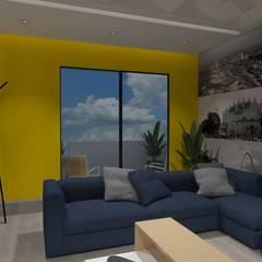 AMPLIACION CASA-HABITACION: Salas multimedia de estilo  por AurEa 34 -Arquitectura tu Espacio-, Ecléctico