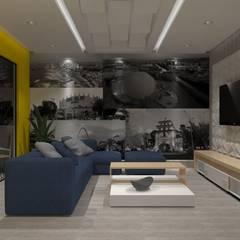 AMPLIACION CASA-HABITACION: Salas multimedia de estilo  por AurEa 34 -Arquitectura tu Espacio-, Ecléctico Contrachapado