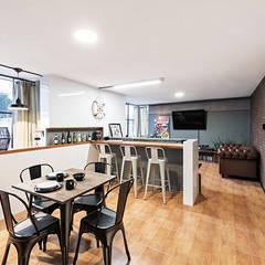 Dining room by MX Taller de Arquitectura & Diseño, Industrial Tiles