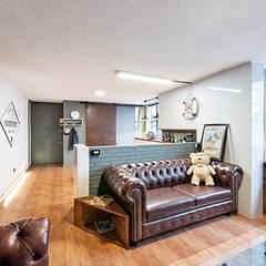 Sala Prados#2: Salas de estilo  por MX Taller de Arquitectura & Diseño
