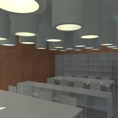 Centro Paroquial de Aguim: Salas multimédia  por Lousinha Arquitectos