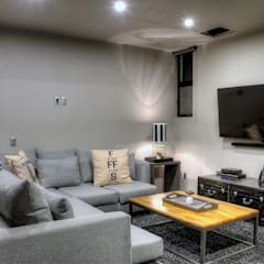 Industrial style media room by Con Contenedores S.A. de C.V. Industrial