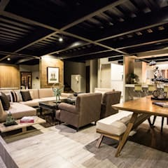 Casa Bunker : Comedores de estilo moderno por Con Contenedores S.A. de C.V.