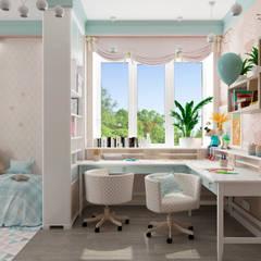 غرفة الاطفال تنفيذ Студия дизайна Дарьи Одарюк , إنتقائي