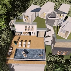 Casas de estilo  por Arquitetura Pâmela Caminski