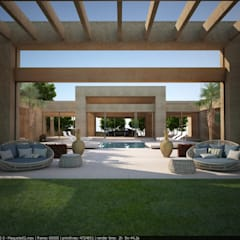 Casa no Vale dos Cristais: Jardins  por Lanza Arquitetos
