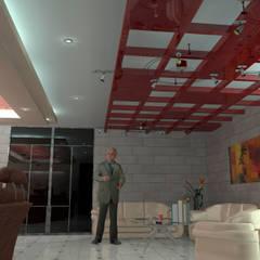 Interior 4: Salones para eventos de estilo  por HC Arquitecto