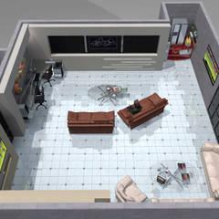Interior 6: Salones para eventos de estilo  por HC Arquitecto
