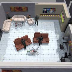 Interior 7: Salones para eventos de estilo  por HC Arquitecto
