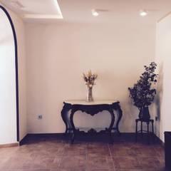 Reforma de vestíbulo y aseos en Cortijo de celebraciones: Salones de eventos de estilo  de Rubí & Del Árbol_arquitectos