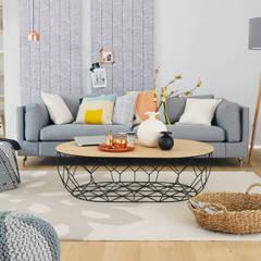 Skandinavisch Wohnen:  Wohnzimmer von Homemate GmbH