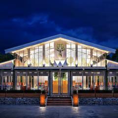 """Ресторан из контейнеров """" TreeLogy Cafe & Grill"""" \Экстерьер: Ресторации в . Автор – Sweet Home Design"""