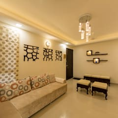 Living room:  Walls by Navmiti Designs