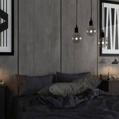 Boraevgar – Çayyolu : iskandinav tarz tarz Yatak Odası