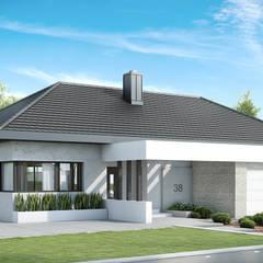 Projekt domu HomeKONCEPT-38: styl , w kategorii Domy zaprojektowany przez HomeKONCEPT | Projekty Domów Nowoczesnych