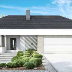 Projekt domu HomeKONCEPT-38: styl nowoczesne, w kategorii Domy zaprojektowany przez HomeKONCEPT   Projekty Domów Nowoczesnych