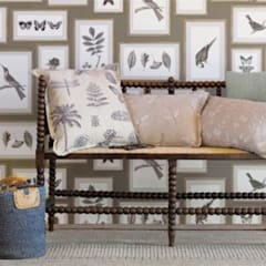 Wallpaper  Sanderson Voyage of Discovery Picture Gallery: styl , w kategorii Salon zaprojektowany przez stylowe tapety