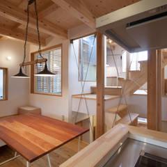 スーパースキップフロアハウス: 株式会社グランデザイン一級建築士事務所が手掛けたダイニングです。