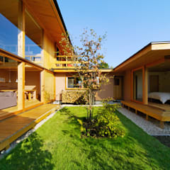 Jardines de estilo  por 中山大輔建築設計事務所/Nakayama Architects
