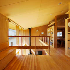 Sala multimediale in stile  di 中山大輔建築設計事務所/Nakayama Architects