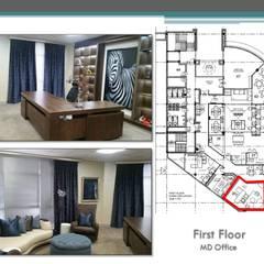 New upmarket office block:  Study/office by Carne Interiors, Modern