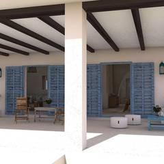 Ibizan house: Casas de estilo  de Blophome