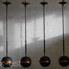 """""""NERO"""" Bar Lampe Kupfer Design Pendel Restaurant Laden Vintage:  Bars & Clubs von Lux-Est"""