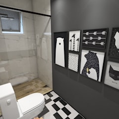 Bathroom by Studio M Arquitetura