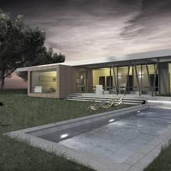 Dom jednorodzinny : styl , w kategorii Basen zaprojektowany przez PA FORMAT