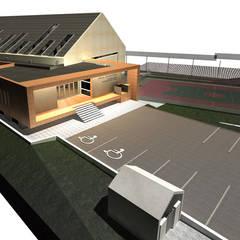 Hala sportowa w Karpaczu: styl , w kategorii Szkoły zaprojektowany przez PA FORMAT
