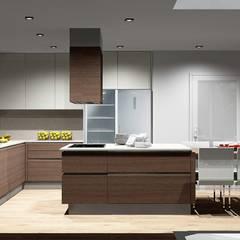 Cozinhas acolhedoras Cozinhas modernas por Amplitude - Mobiliário lda Moderno Madeira Acabamento em madeira