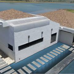 gandhi farm house:  Houses by 4th axis design studio