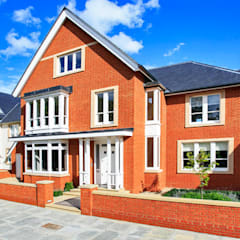 New wooden windows and doors to 2 new build houses in Teddington:  Windows  by Woodland of Kingston