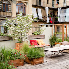 Terrace by marta carraro , Rustic